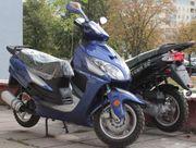 Скутер Viper WY50QT-7 новый. Цвет: синий,  чёрный. Китай.