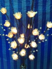 Цветы-светильники,  гирлянды,   вазы. Производство Тайланд